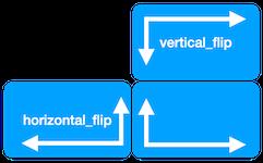 vertical_flip and horizontal_flip